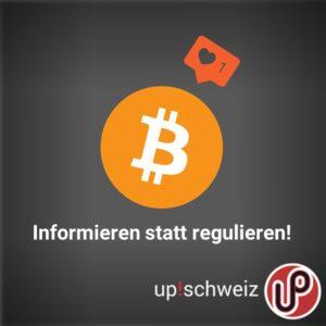 up!schweiz will Kryptowährungen nicht regulieren